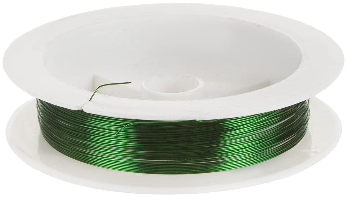 Проволока для рукоделия Астра, цвет: зеленый, 0,3 мм х 10 м, 10 шт набор мини инструментов для рукоделия астра 9 шт