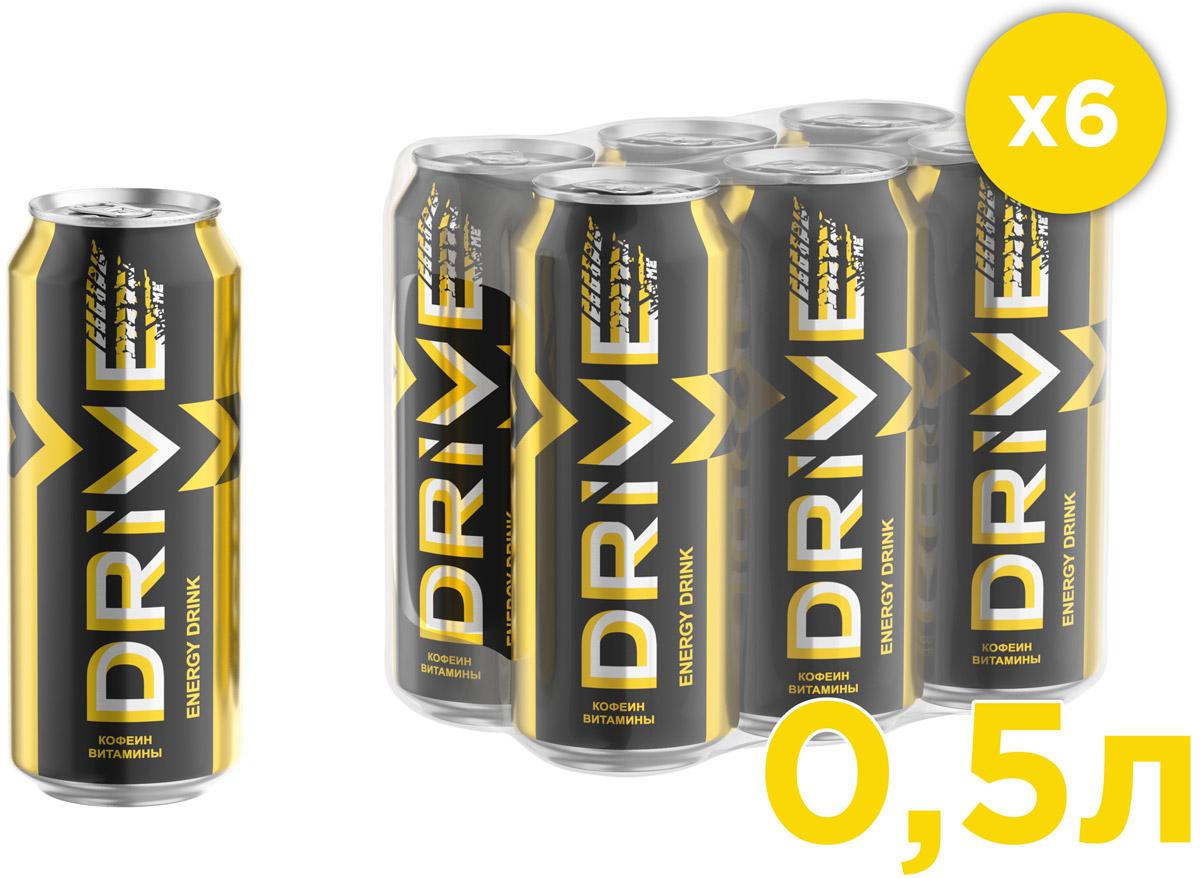Drive Me Яблоко-Карамбола энергетический напиток, 6 шт по 0,5 л энергетический напиток drive me ягоды 449 мл