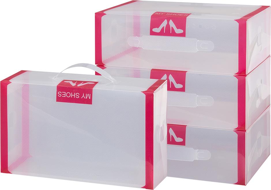 Набор коробок для хранения женской обуви