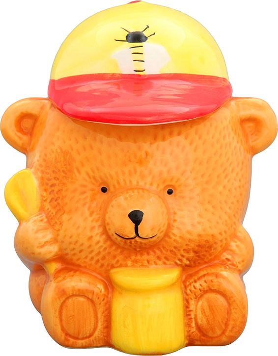 Горшочек для меда Elan Gallery Медвежонок, 500 мл соусник elan gallery листок 15 7 5 2 5 см 2 секции