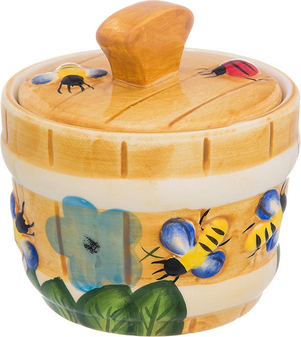Горшочек для меда Elan Gallery Пчелки на лугу, 300 мл горшочек для меда elan gallery пчелки на сотах 300 мл