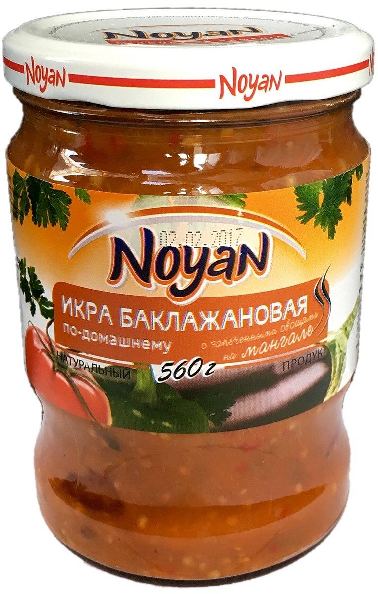 Noyan Икра баклажановая по-домашнему, 560 г овощные консервы janarat икра баклажановая по домашнему 470 г