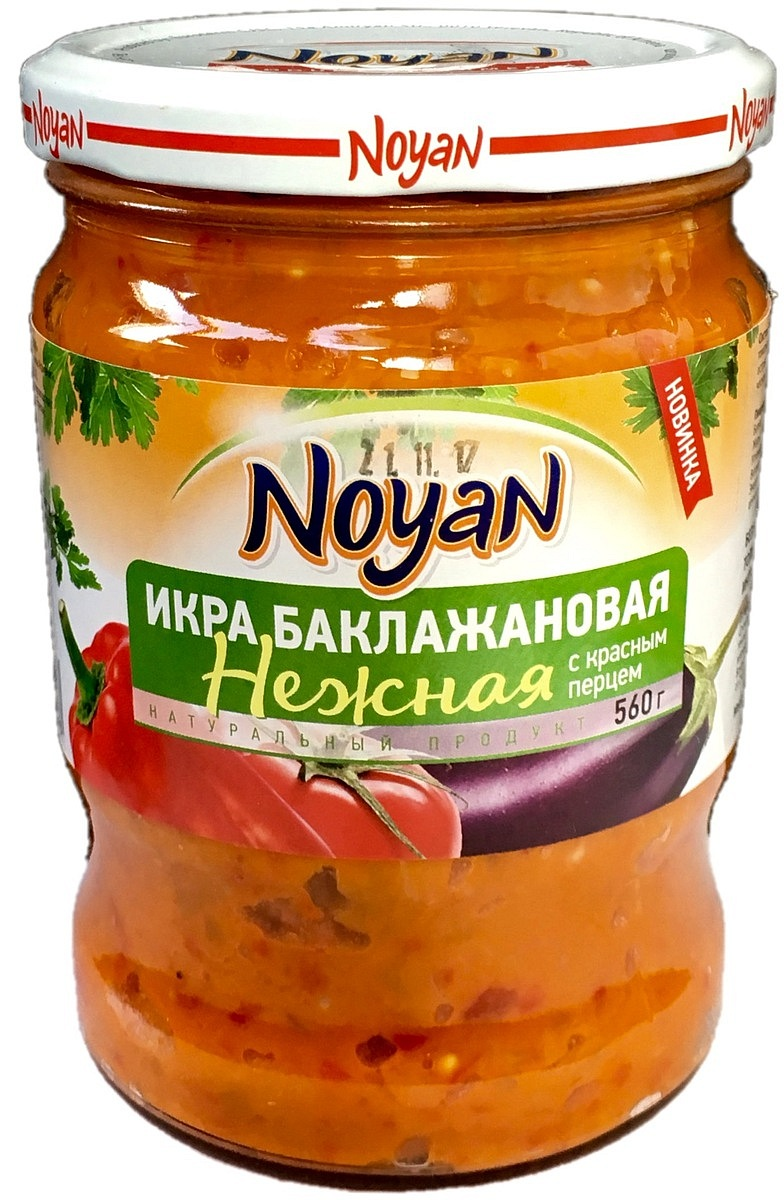 Noyan Икра баклажановая нежная, 560 г овощные консервы janarat икра баклажановая 470 г
