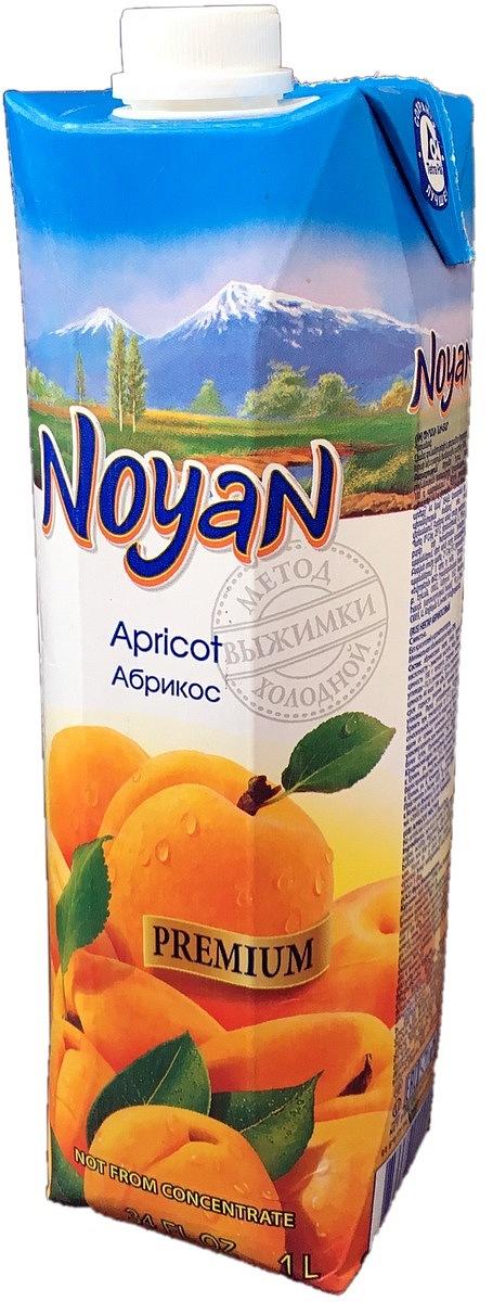Noyan Абрикосовый нектар Premium, 1 л