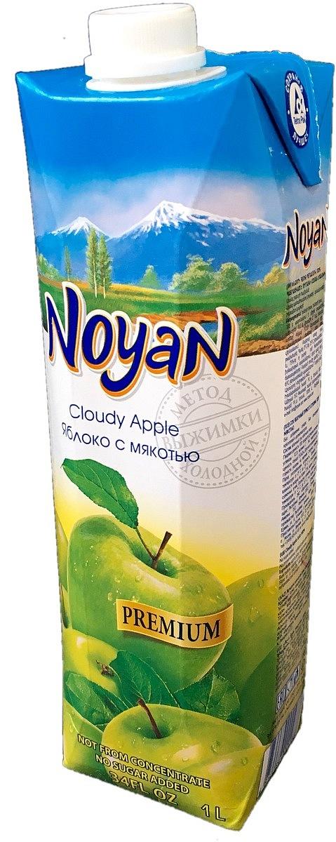 Noyan Яблочный сок Premium, 1 л