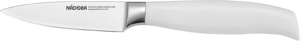Нож для овощей Nadoba Blanca, длина лезвия 8,5 см723416Нож для овощей Nadoba Blanca изготовлен из высококачественной кованой нержавеющей стали премиум-класса. Лезвие такого ножа остается острым очень долгое время. Эргономичная ручка выполнена из кованой нержавеющей стали с ABS-пластиком. Этот легкий и многофункциональный нож прекрасно подойдет для очистки и нарезки овощей и фруктов. Нож Nadoba Blanca станет прекрасным дополнением к коллекции ваших кухонных аксессуаров. Длина лезвия: 8,5 см.