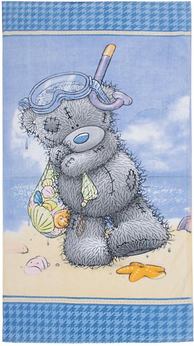Полотенце Mona Liza Teddy на море, цвет: голубой, 70 х 140 см mona liza mona liza плед monet classic 140 180 пыльная роза