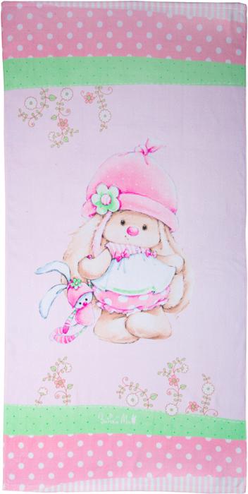 Полотенце Mona Liza Зайка Ми на полянке, цвет: розовый, 70 х 140 см полотенце банное mona liza orchid цвет белый 50 х 90 см