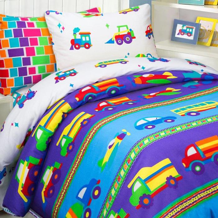 """Комплект постельного белья Mona Liza """"Машинки"""", 1,5 спальное, цвет: синий, наволочка 70 х 70 см"""