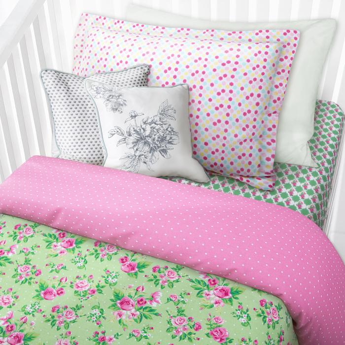 Комплект в кроватку Mona Liza Цветы, 1,5-спальный, наволочка 40 х 60 см комплект полутораспальный mona liza nensy