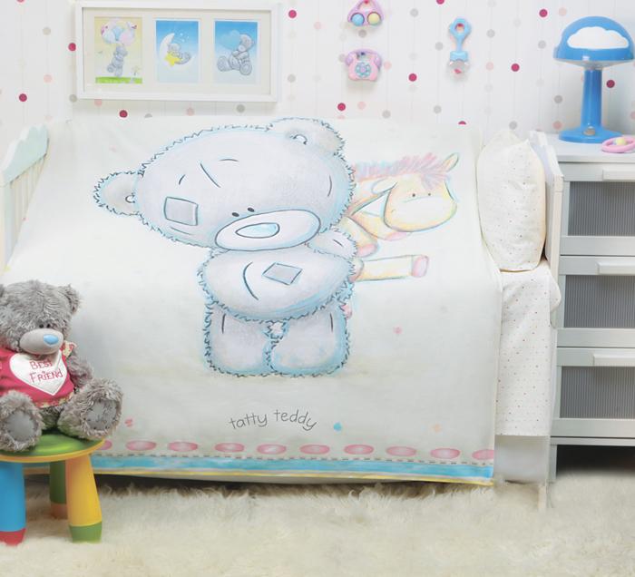 "Комплект в кроватку Mona Liza ""Teddy Baby"", цвет: бежевый, наволочка 40 х 60 см"
