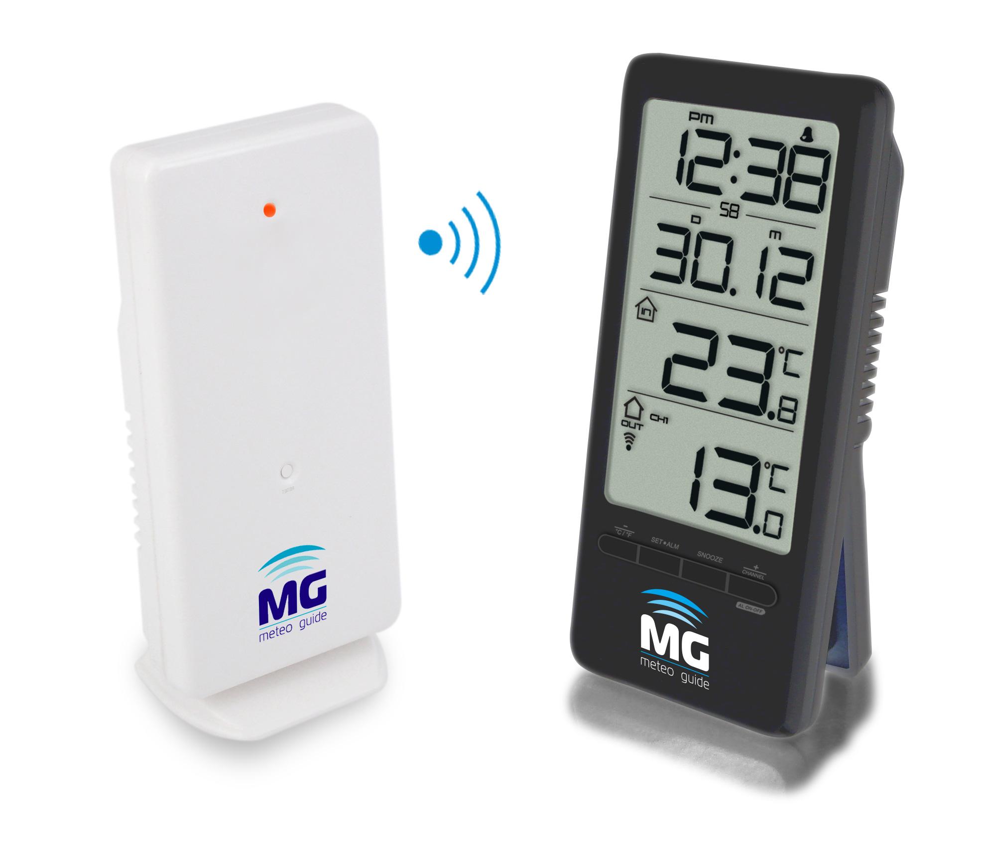 MG 01202, Black цифровой термометр с радиодатчиком