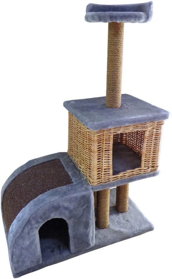 Домик-когтеточка Меридиан Двухуровневый, цвет в ассортименте, 72 х 37 х 110 смД341Л ССДомик-когтеточка Меридиан выполнен из высококачественного ДВП и ДСП и обтянут искусственным мехом. Изделие предназначено для кошек. Ваш домашний питомец будет с удовольствием точить когти о специальные столбики, изготовленные из джута или о горку из ковролина. А отдохнуть он сможет либо на полке, либо в домиках. Домик-когтеточка Меридиан принесет пользу не только вашему питомцу, но и вам, так как он сохранит мебель от когтей и шерсти. Общий размер: 71 х 36 х 110 см. Размер нижнего домика: 36 х 36 х 32 см. Размер верхнего домика: 36 х 36 х 31 см. Размер полки: 26 х 26 см.Уважаемые клиенты!Обращаем ваше внимание на цветовой ассортимент товара. Поставка осуществляется в зависимости от наличия на складе.