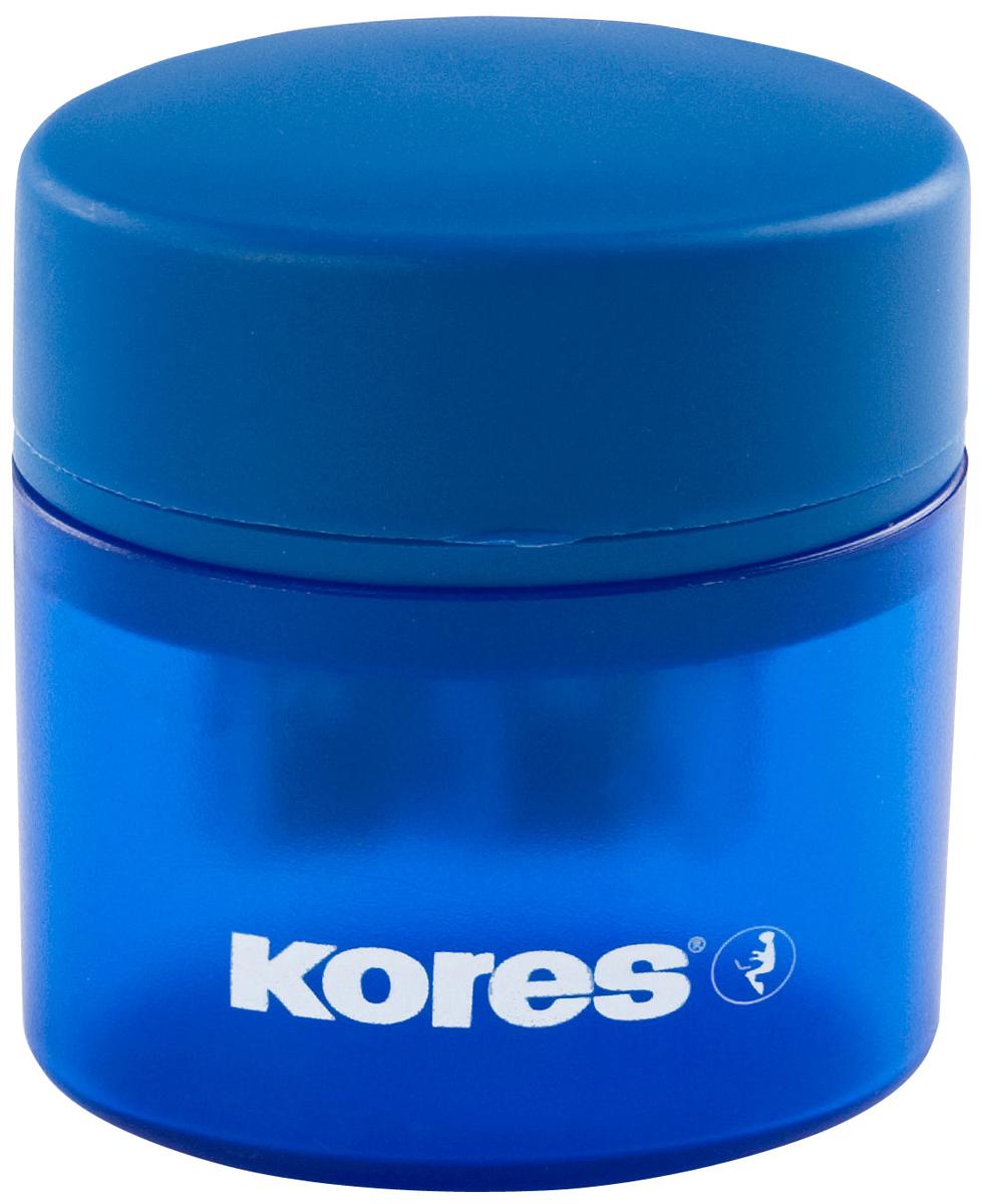 Kores Точилка двойная с контейнером, цвет в ассортименте