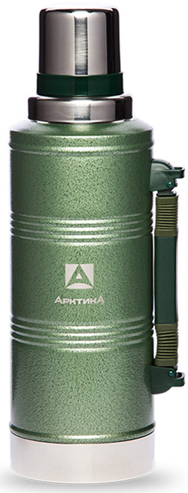 Термос для напитков Арктика, цвет: зеленый, 2,2 л арктика 38 л зеленый