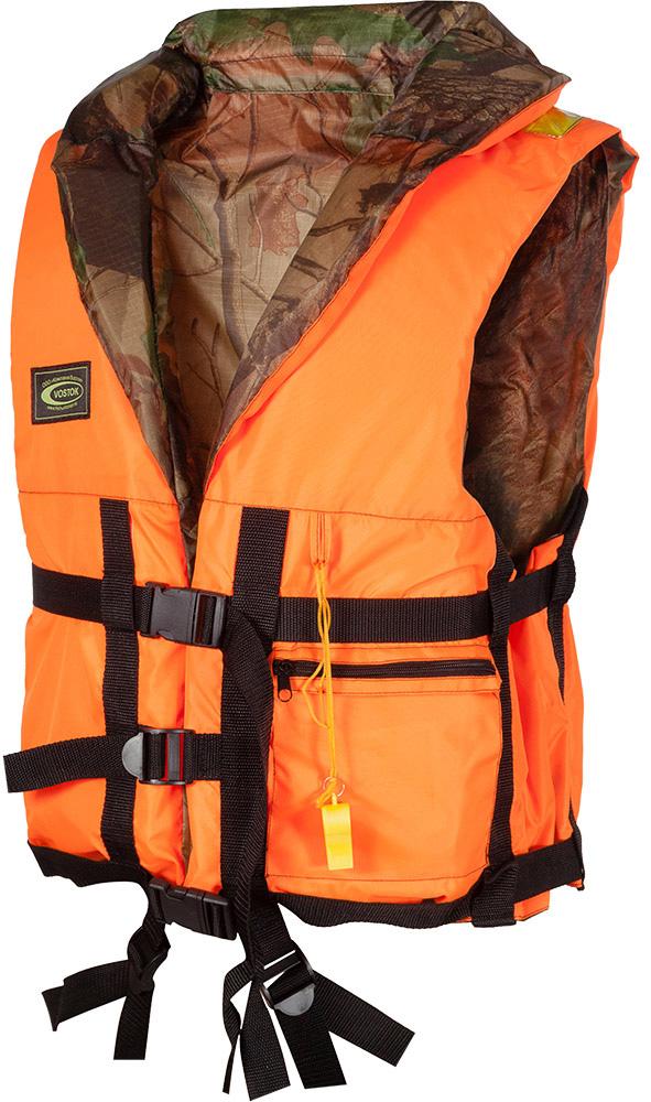 Жилет спасательный Восток ПР, двусторонний, цвет: оранжевый, камуфляж. sp_pr_w-611. Размер 66/70