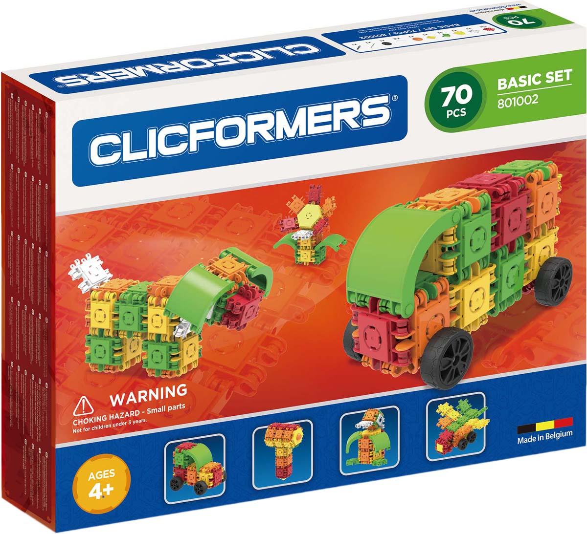 Clicformers Конструктор Basic Set 70 деталей clicformers конструктор clicformers transportation set mini 30 деталей