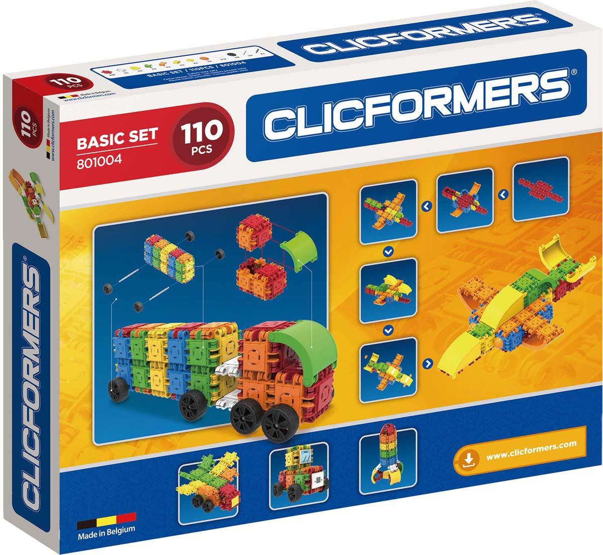 Clicformers Конструктор Basic Set 110 деталей clicformers конструктор clicformers transportation set mini 30 деталей