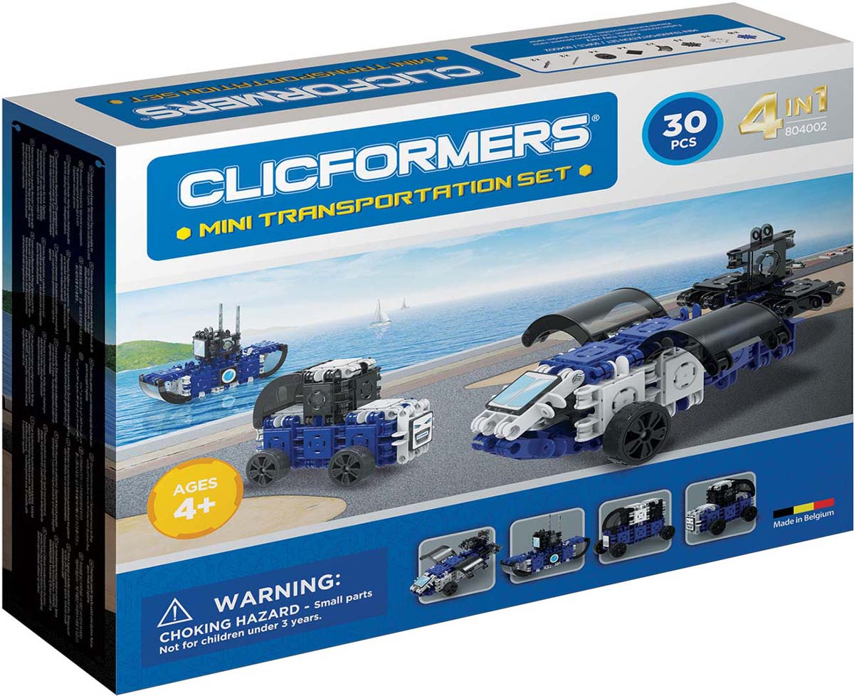 Clicformers Конструктор Transportation Set Mini 30 деталей clicformers конструктор clicformers transportation set mini 30 деталей