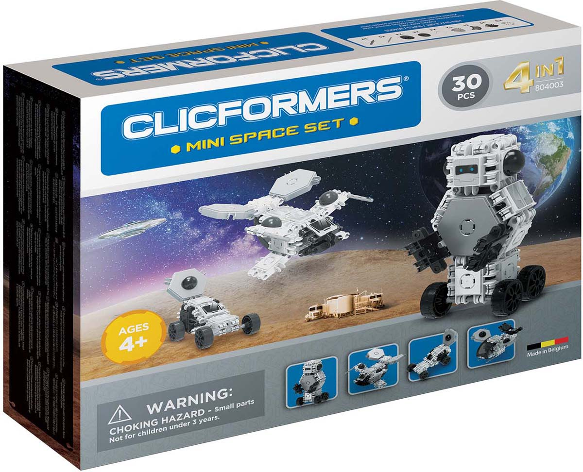 Clicformers Конструктор Space Set Mini 30 деталей clicformers конструктор clicformers transportation set mini 30 деталей