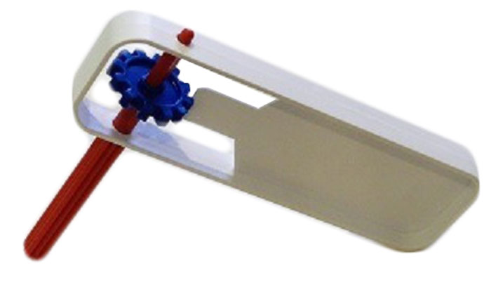 Трещотка болельщика, круговая, цвет: белый, синий, красный, 19,5 х 6 х 2 см
