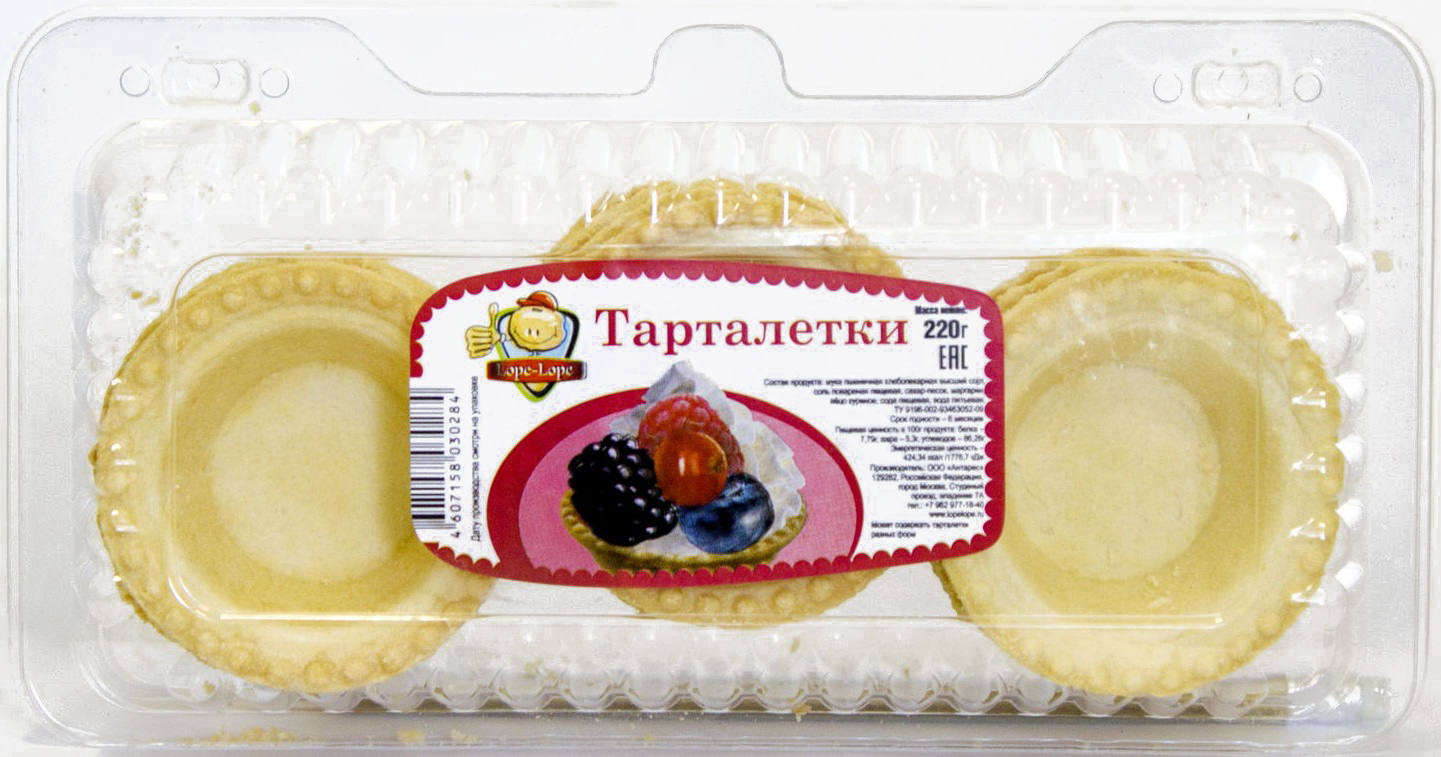 Тарталетки Lope-Lope, 220 г