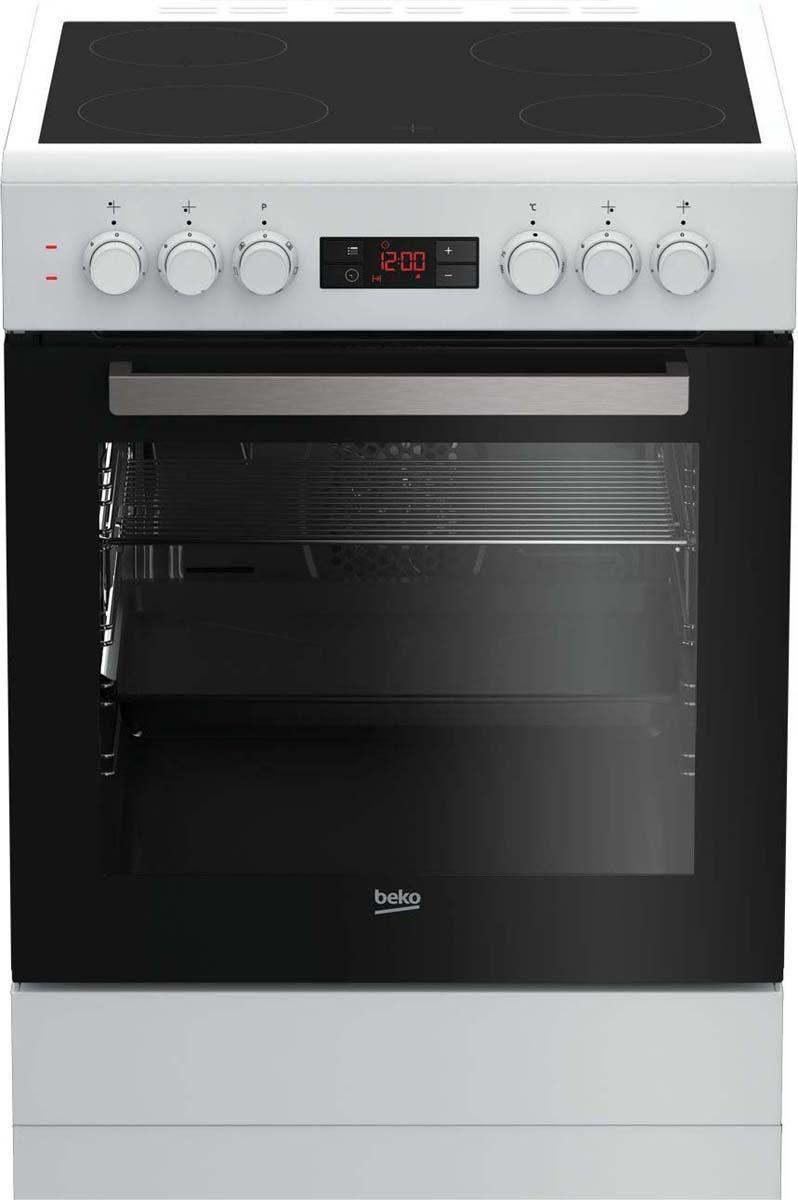 Плита Beko FSM 67300 GWS, электрическая, белый, черный