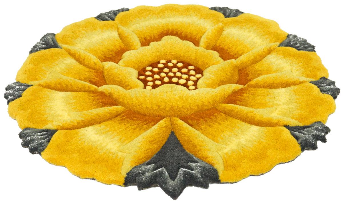 "Ковер ""Madonna"", круглый, цвет: желтый, 0,7 х 0,7 м. 8563/8157"
