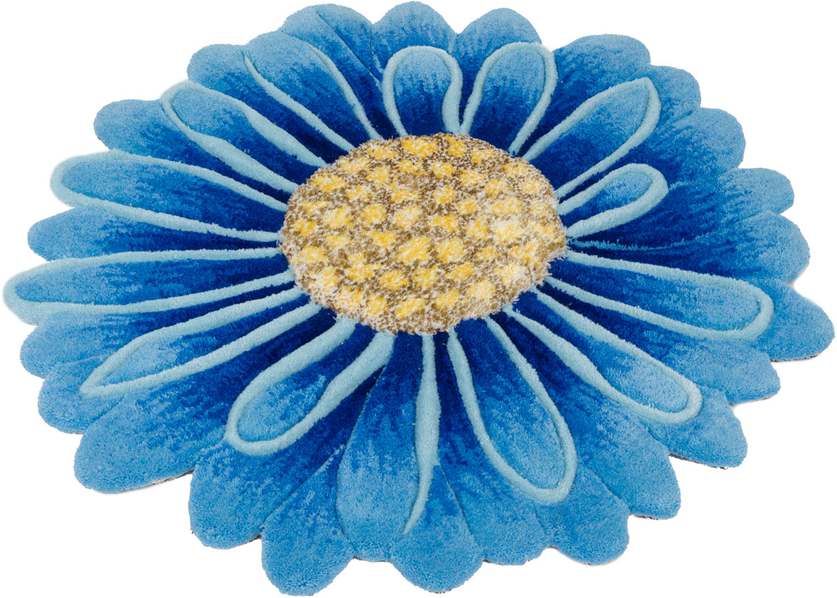 "Ковер ""Madonna"", круглый, цвет: голубой, 0,8 х 0,8 м. 8DHS03/8388"