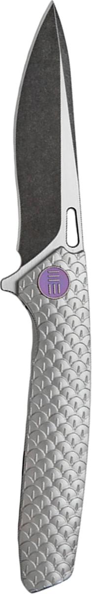 Нож складной We Knife 604i, цвет: серебристый, длина клинка 9,7 см