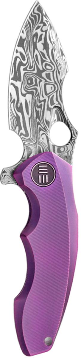 Нож складной We Knife 605DS, цвет: фиолетовый, длина клинка 7,6 см