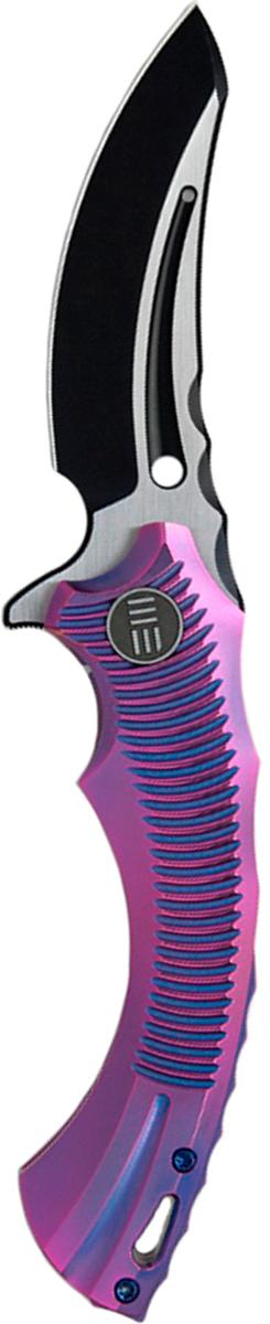 Нож складной We Knife Sea Monster, цвет: фиолетовый, с покрытием DLC, длина клинка 8,4 см