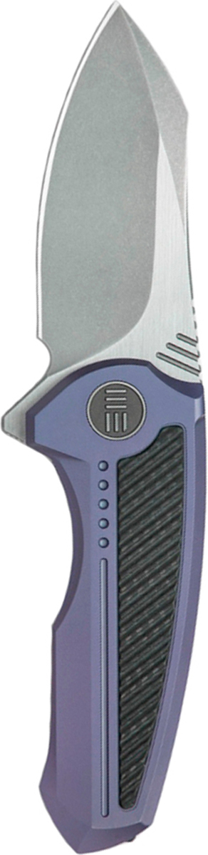 Нож складной We Knife Valiant, цвет: серый, синий, длина клинка 7,55 см
