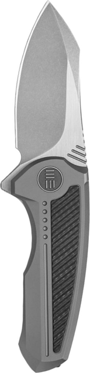 Нож складной We Knife Valiant, цвет: серый, длина клинка 7,55 см