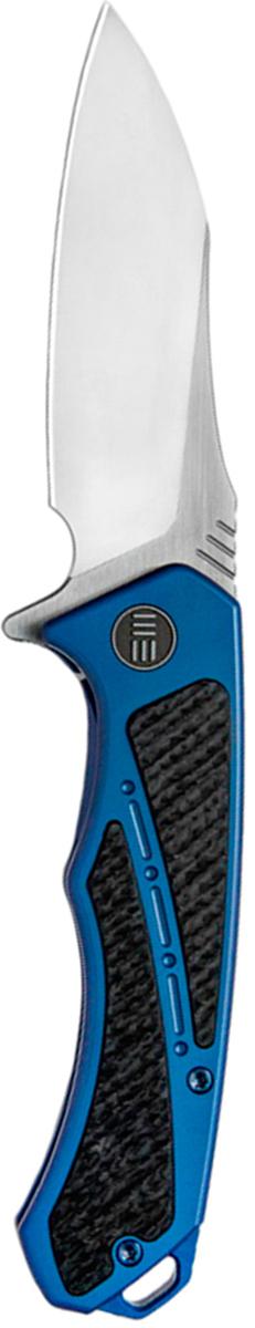 Нож складной We Knife Minitor, цвет: синий, длина клинка 8,72 см