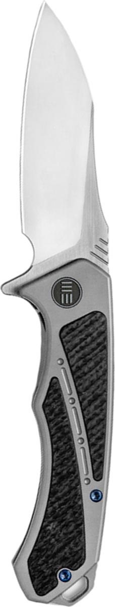 Нож складной We Knife Minitor, цвет: серый, длина клинка 8,72 см