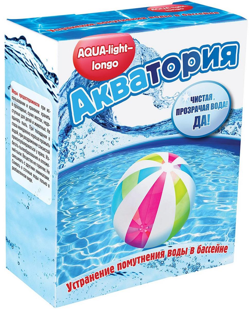 Гранулы для осветления воды в бассейне Акватория Aqua-light longo, 4 картриджах по 125 г препарат для комплексной дезинфекции воды в бассейнах акватория дуал эффект комплекс 1 6 л