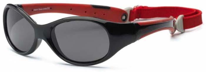 Очки солнцезащитные для мальчиков Real Kids Explorer, цвет: черный, красный. 4EXPBKRD4EXPBKRDДетские солнцезащитные очки Real Kids Explorer 4+ черный/красный