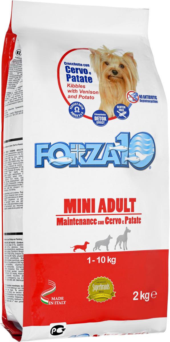 """Корм сухой Forza10 """"Maintenance"""" для взрослых собак мелких пород, с олениной и картофелем, 2 кг"""