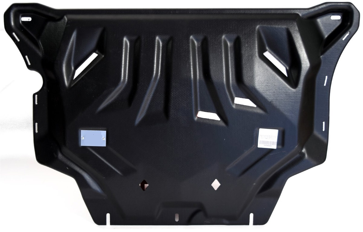 Защита картера и КПП АВС-Дизайн, для Audi A3 8V хэтчбек 2WD 2012-2016 2016-н.в./Seat Leon хэтчбек 2WD 2012-2016/Skoda Octavia A7 хэтчбек 2WD 2013-2017 2017-н.в./Volkswagen Golf VII хэтчбек 2WD 2013-н.в./Passat B8 седан 2WD 2015-н.в., композит 8 мм, креп комплект защита раздатки и крепеж novline autofamily toyota hilux 2015 2 4 2 8 дизель мкпп акпп
