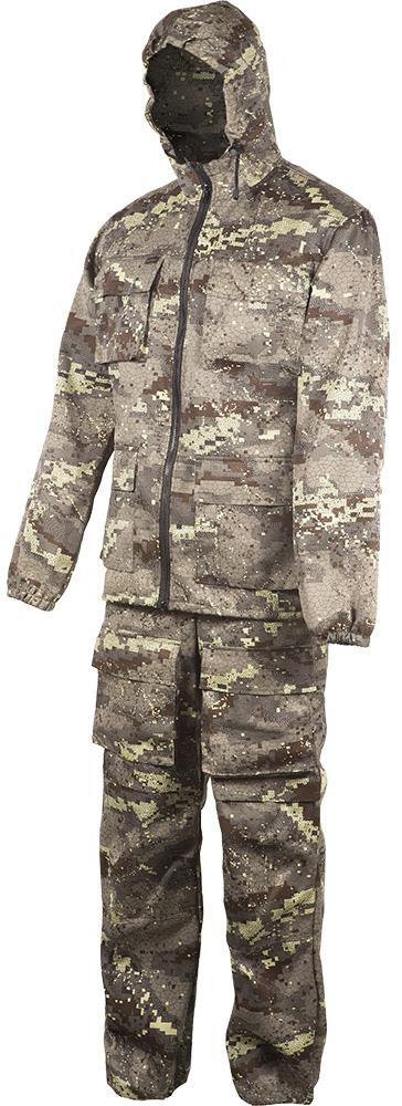 Костюм камуфляжный мужской Huntsman Егерь: куртка, брюки, цвет: аллигатор камуфляж. egs_101-240. Размер 52/54egs_101-240Костюм летний. Куртка с накладными карманами, низ рукава на резинке, притачной капюшон, низ куртки регулируется шнуром, брюки на поясе со шлевками, с боковыми и передними накладными карманами, на задних половинках брюк накладные карманы с клапаном и карман для инструментов. Рекомендуем!