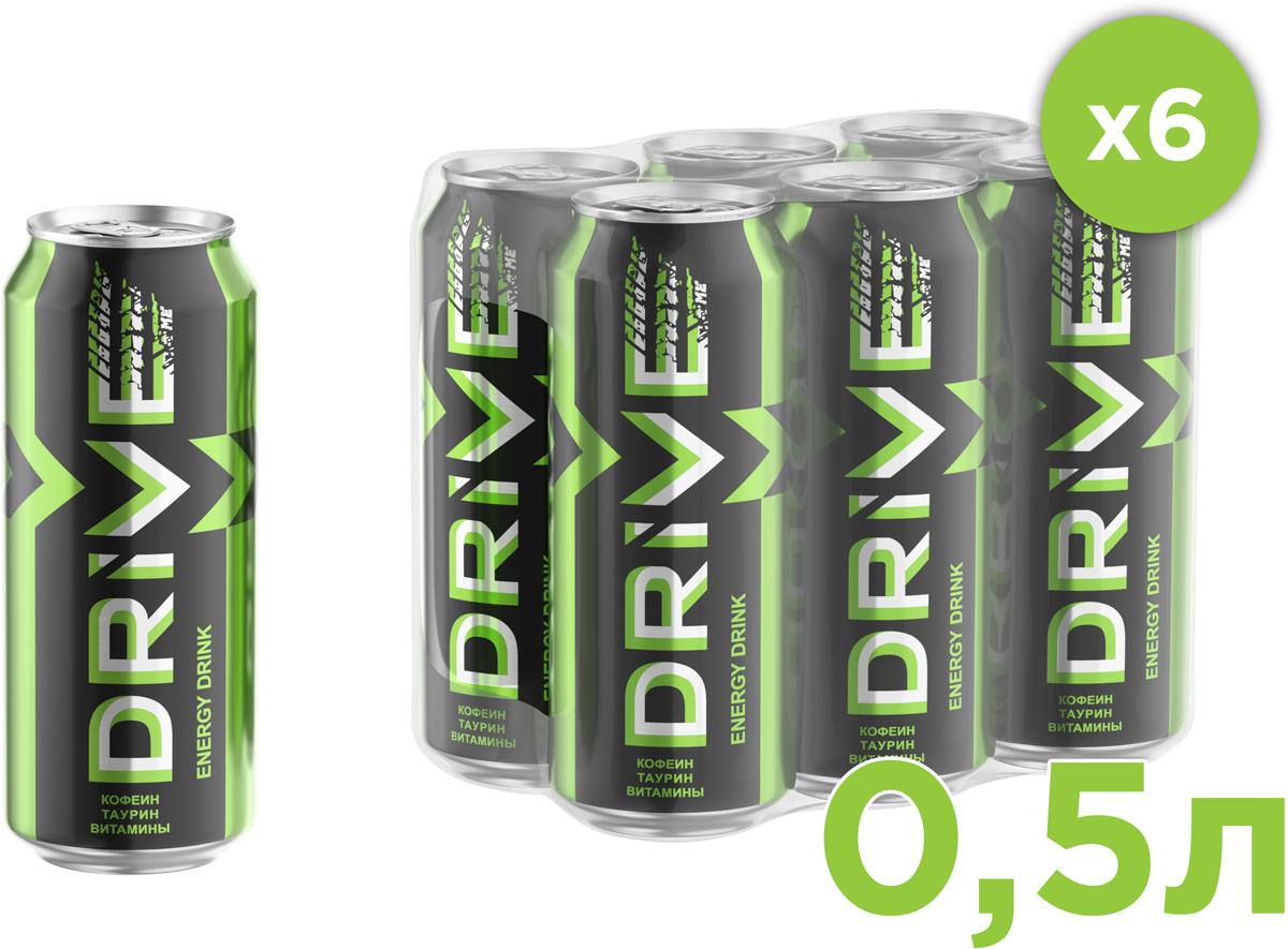 Drive Me Энергетический напиток Ориджинал, 6 шт по 0,5 л энергетический напиток drive me ягоды 449 мл