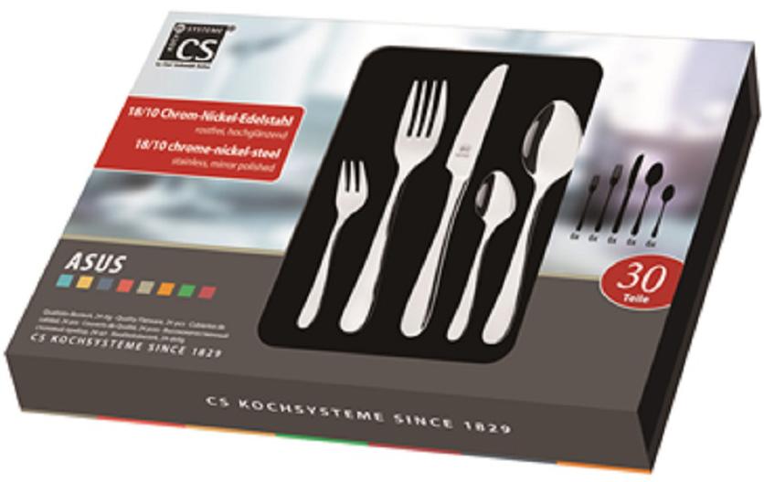 Набор столовых приборов Carl Schmidt Sohn Asus, 30 предметов набор столовых приборов carl schmidt sohn baguette 24 предмета