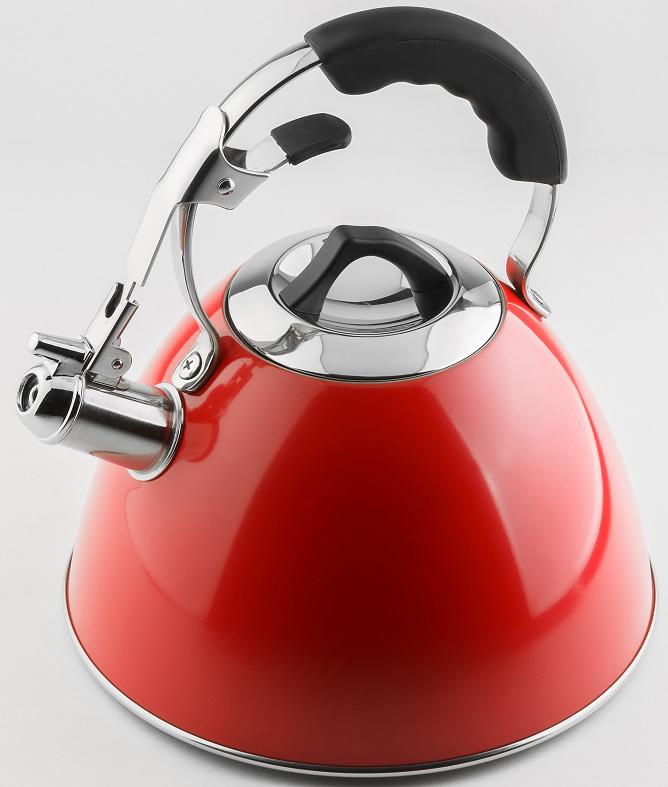 Чайник Carl Schmidt Sohn Aquatic, со свистком, цвет: красный, 3 л чайник carl schmidt sohn aquatic со свистком цвет серый металлик 5 л