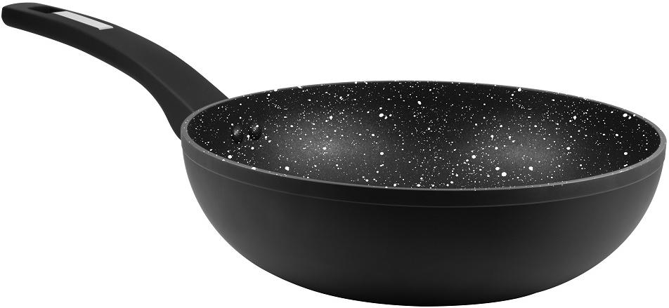 Сковорода-вок Cs-Kochsysteme Marburg, с мраморным покрытием, цвет: черный. Диаметр 24 см marburg gloockler 52516
