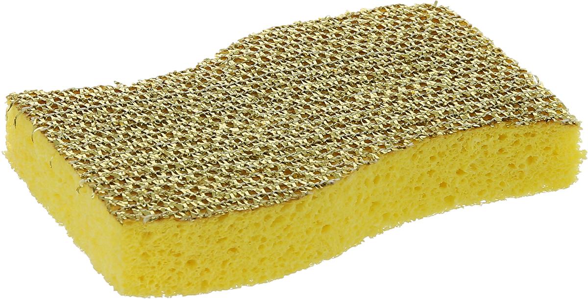 Губка для посуды целлюлозная универсальная La Chista, цвет в ассортименте, 11,5 см х 7,5 см х 2 см чистюля 10 maxi губка поролоновая с чистящим амбразивным слоем 10шт