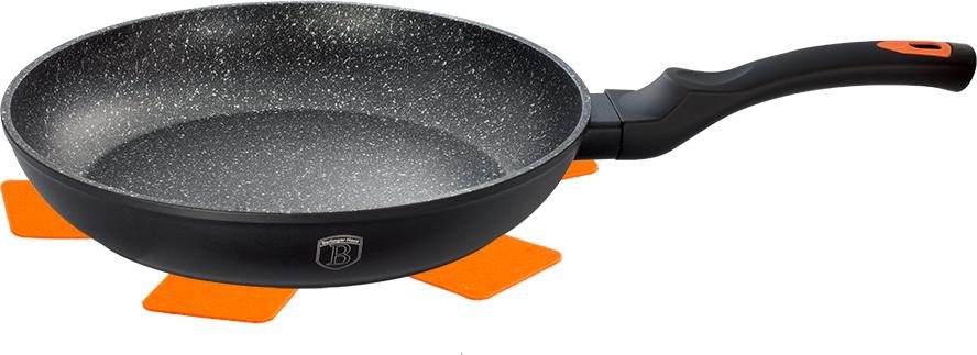 Сковорода Berlinger Haus Granit Diamond Line, с мраморным покрытием, цвет: черный. Диаметр 20 см сковорода berlinger haus stone touch line с мраморным покрытием диаметр 28 см