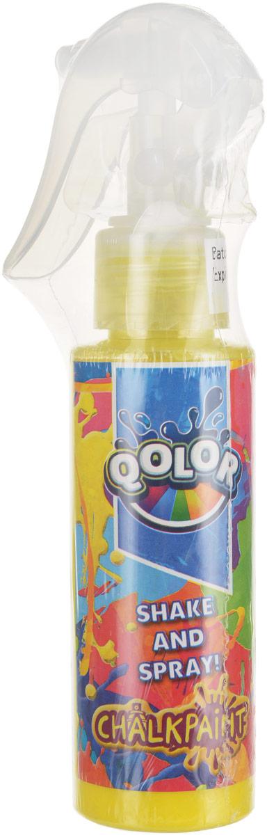 Qolor Краска меловая цвет желтый побелка меловая axton 5 кг