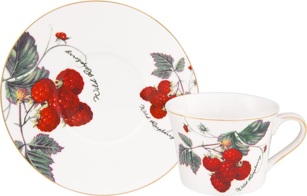 Чайная пара Elan Gallery Ягода-малина, 2 предмета чайный набор elan gallery ягода малина 4 предмета
