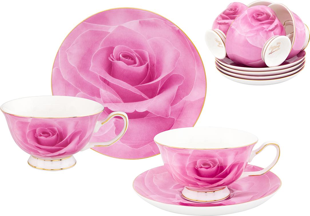 Набор чайный Elan Gallery Роза, 12 предметов набор менажниц elan gallery волна оливки 3 секции с 2 шпажками 17 х 15 х 2 5 см 4 предмета
